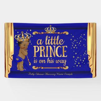 Blaues Gold Prinz-Babyparty drapiert ethnisches Banner
