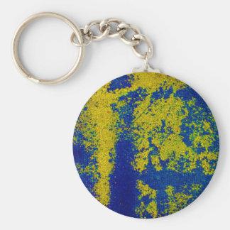 Blaues Gold Schlüsselanhänger