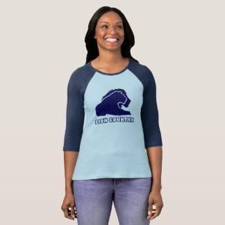 Blaues Goldlöwe-Land-einzigartige Dame, Mann-T - T-Shirt