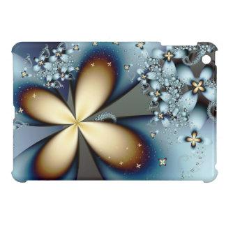 Blaues Goldniedliche abstrakte mit Blumenkunst iPad Mini Hülle