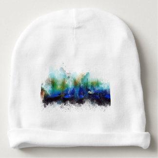 Blaues Gondel-Aquarell Venedigs Babymütze