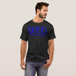 Blaues graphiti Logo T-Shirt