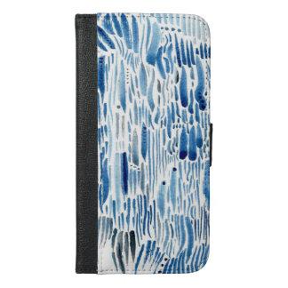 Blaues Gras iPhone 6/6s Plus Geldbeutel Hülle