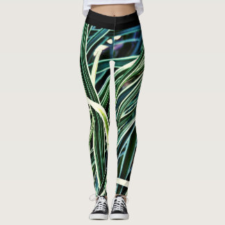 Blaues Gras Leggings