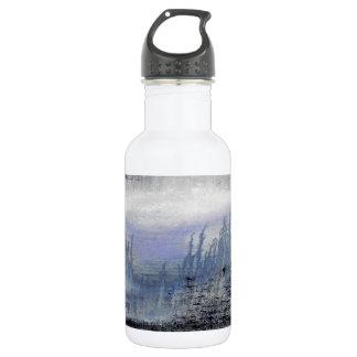 Blaues Grau-abstrakte Wasser-Flasche Edelstahlflasche