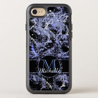 Blaues Grau-gemarmorter kundengerechter OtterBox Symmetry iPhone 8/7 Hülle