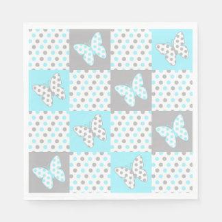 Blaues Grau-graues Papierservietten