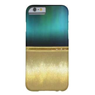 Blaues Grün-Aquarell-Schein-Goldentwurfs-Fall