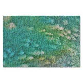 Blaues Grün-Aquarell Seidenpapier