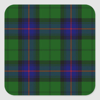 Blaues Grün Armstrong-Clan Tartan kariert Quadratischer Aufkleber
