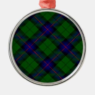 Blaues Grün Armstrong-Clan Tartan kariert Silbernes Ornament