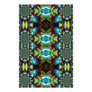 Blaues Grün-Brownabstraktes Kettenmuster