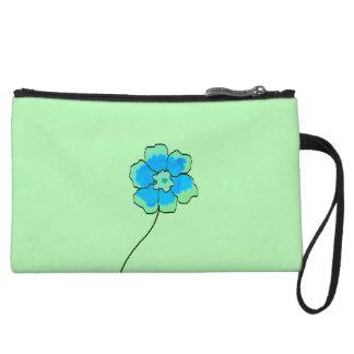Blaues Grün der Handtasche Blumengewohnheit