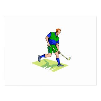 Blaues Grün des Feld-Hockeymannes Postkarte