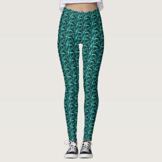 Blaues Grün-Frack-Muster Leggings