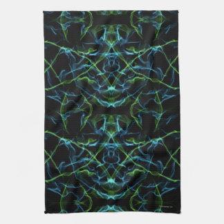 Blaues Grün-Fraktal-Gesicht Küchentuch