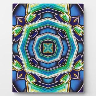 Blaues Grün-künstlerisches modernes abstraktes Fotoplatte