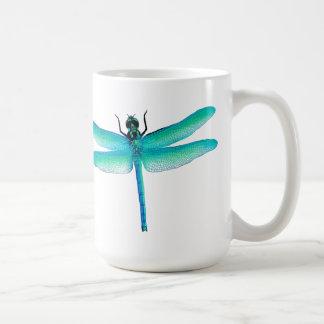 Blaues Grün-Libellen-Tasse Kaffeetasse