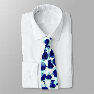 Blaues Grün-Lupine-Herr-Krawatte Krawatte