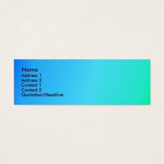 Blaues Grün-Neid Mini-Visitenkarten