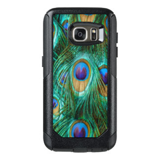 Blaues Grün-Pfau-Federn OtterBox Samsung Galaxy S7 Hülle