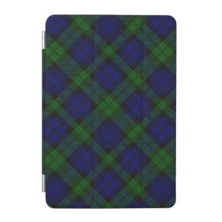 Blaues Grün schwarzen Uhrclan Tartan kariert iPad Mini Cover