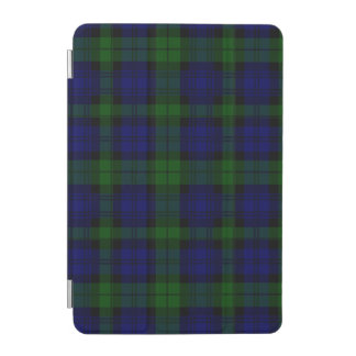 Blaues Grün schwarzen Uhrclan Tartan kariert iPad Mini Hülle
