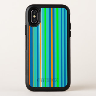 Blaues Grün Stripes Muster OtterBox iPhone X OtterBox Symmetry iPhone X Hülle