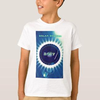 Blaues Grün-vibrierende Sonnenfinsternis 2017 T-Shirt