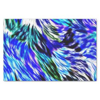Blaues Grün-weiße lila Krawatten-abstraktes Muster Seidenpapier