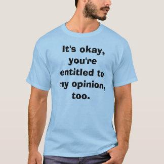 Blaues grundlegendes T-Stück T-Shirt