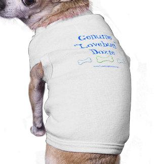 Blaues/grünes Lovebug Dackel-Haustier-Shirt T-Shirt