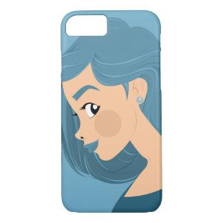 Blaues Haar iPhone 8/7 Hülle