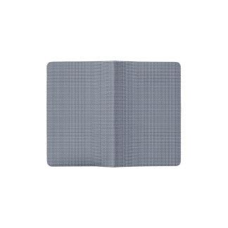 Blaues Hahnentrittmuster Alices im englischen Moleskine Taschennotizbuch