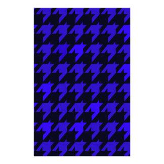 Blaues Hahnentrittmuster Briefpapier