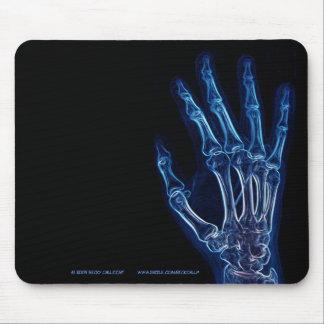 Blaues Handröntgenstrahl mousepad
