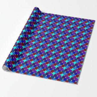 Blaues Harlekin-Packpapier Geschenkpapier