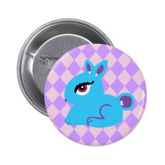 Blaues Häschen Buttons
