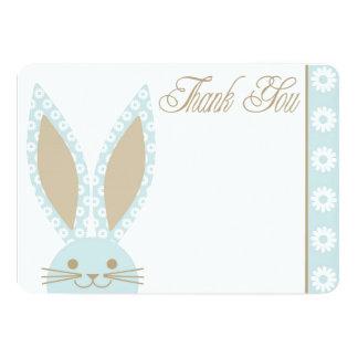 Blaues Häschen danken Ihnen zu kardieren 12,7 X 17,8 Cm Einladungskarte