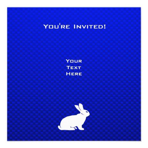 Blaues Häschen Personalisierte Einladungskarten