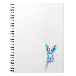 Blaues Häschen-Foto-Notizbuch (80 Seiten B&W) Spiral Notizblock