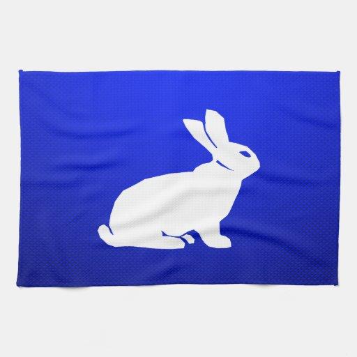 Blaues Häschen Handtuch