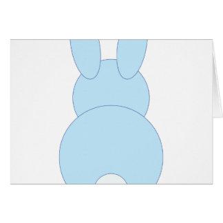 Blaues Häschen Grußkarte
