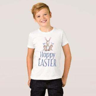 Blaues Häschen-Jungen-Ostern-Shirt T-Shirt