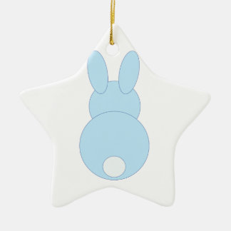 Blaues Häschen Keramik Stern-Ornament
