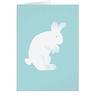 Blaues Häschen-neue Baby-Gruß-Karte Grußkarte
