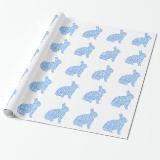 Blaues Häschen-Packpapier Geschenkpapier