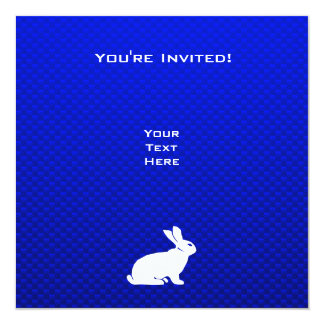 Blaues Häschen Quadratische 13,3 Cm Einladungskarte