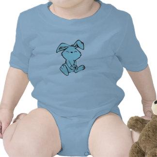 blaues Häschen Babybodys