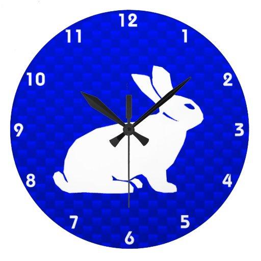 Blaues Häschen Uhr